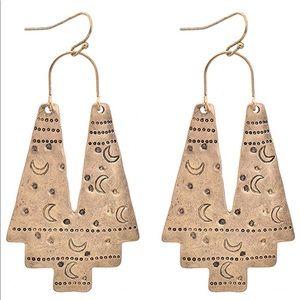 Jewelry - Aztec Geometric Tribal Drop Dangle Earrings